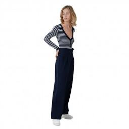 Pantalon large Lili Sidonio bleu marine
