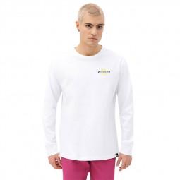 T-shirt manches longues Dickies Ruston blanc