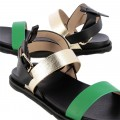 Sandales Vanessa Wu noir or vert