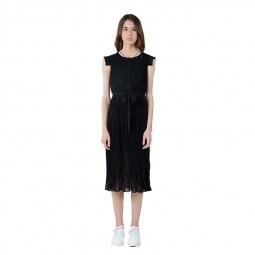 Robe mi-longue plissée Lili Sidonio noir
