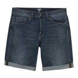 Bermuda en jeans Carhartt bleu délavé