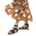 Sandales plates Vanessa Wu noires