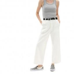 Pantalon femme Vans Clark blanc