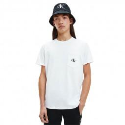 T-Shirt à poche Calvin Klein blanc