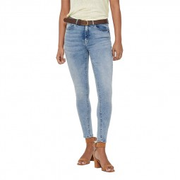 Jeans Only Paola taille haute skinny bleu clair