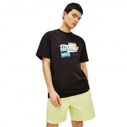 T-shirt Tommy Jeans imprimé graphique noir