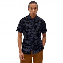 Chemise manches courtes Dickies Quamba tigré bleu noir
