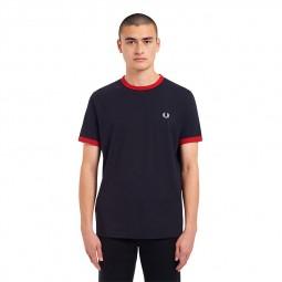 T-Shirt Fred Perry M3519 bleu marine