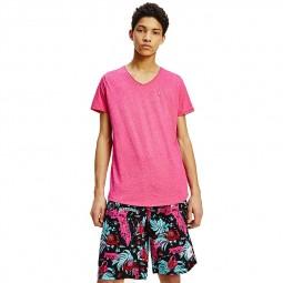 T-shirt col V Tommy Jeans 9587 rose