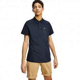 Polo Tommy Jeans noir chiné