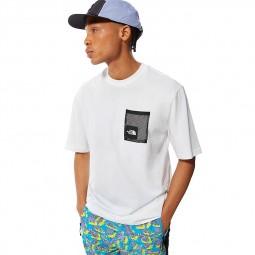 T-shirt The North Face Black Box Cut Tee blanc