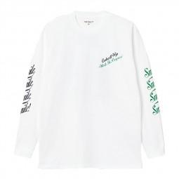 T-shirt manches longues Carhartt Landscape blanc
