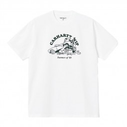 T shirt Carhartt S/S Flat Tire blanc
