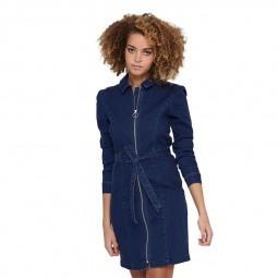 Robe courte en jean's Only bleu foncé
