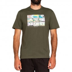 T-shirt Element x Peanuts Snoopy kaki