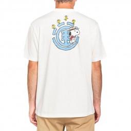 T-shirt Element x Peanuts blanc