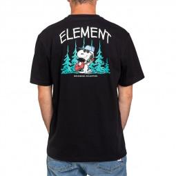 T-shirt Element x Peanuts noir