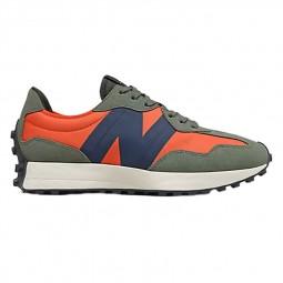 Sneakers homme New Balance 327 orange marine kaki