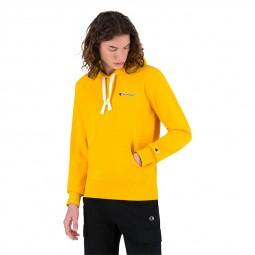 Sweat à capuche molleton Champion jaune