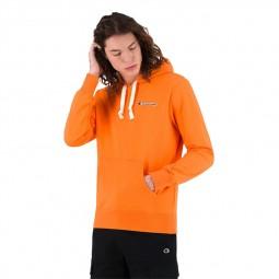 Sweat à capuche molleton Champion orange