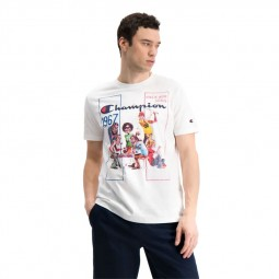 T-shirt Champion Vintage blanc