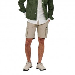 Bermuda Only & Sons Mike cargo short beige