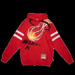 Sweat Big Face 2.0 Fleece Hoodie Miami Heat rouge