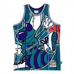 Débardeur Big Face 2.0 Jersey Charlotte Hornets bleu