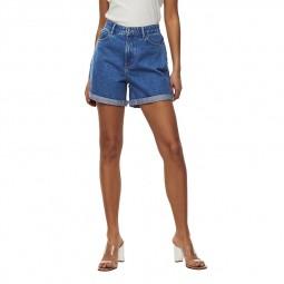 Short en jean's taille haute Only bleu moyen
