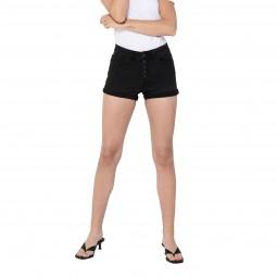 Short en jean's taille haute Only noir délavé