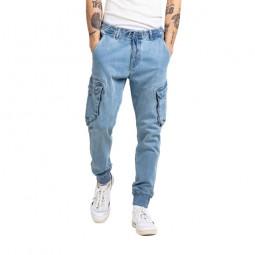 Pantalon cargo Reell Reflex Rib bleu délavé