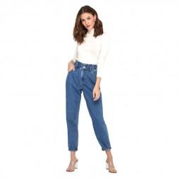 Jean Only Lova Carotte bleu medium jean