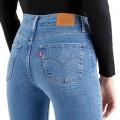 Jean's Levi's® 724™ High Rise Straight Jeans bleu clair délavé