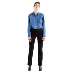 Jean's Levi's® 314™ Shaping Straight Jeans noir