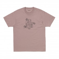 T shirt Carhartt S/S Stoneage rose