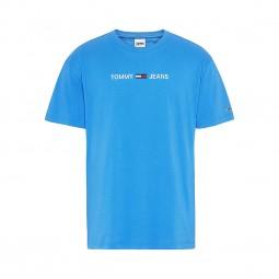 T-shirt Tommy Jeans logo bleu