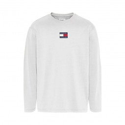 T-shirt Tommy Jeans manches longues blanc