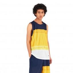 Débardeur de basket Champion bleu marine, jaune, blanc