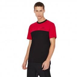 T-shirt col rond Armani Exchange rouge noir