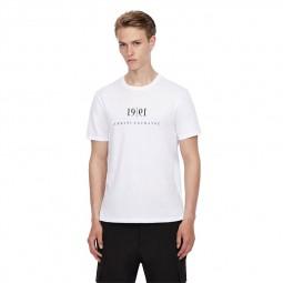 T-shirt col rond Armani Exchange blanc