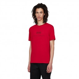 T-shirt col rond Armani Exchange rouge