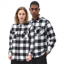 Chemise à carreaux noirs et blancs Dickies New Sacramento