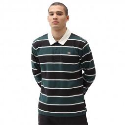 T shirt Dickies Oakhaven Rugby rayé noir et vert
