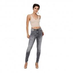 Jeans Only Paola taille haute gris délavé