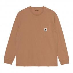 T-shirt Carhartt femme Pocket marron clair