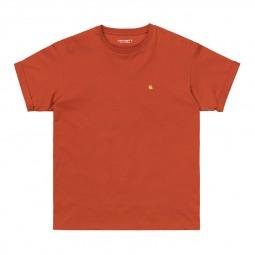 T-shirt femme Carhartt Chase orange