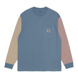 T-shirt manches longues Carhartt Triple Pocket ciel beige rose