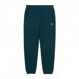 Pantalon jogging Carhartt WIP Chase vert foncé