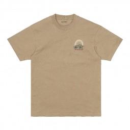 T-shirt manches courtes Carhartt S/S Mountain beige foncé