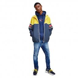 Veste zippée Colour-Block Tommy Jeans jaune / marine